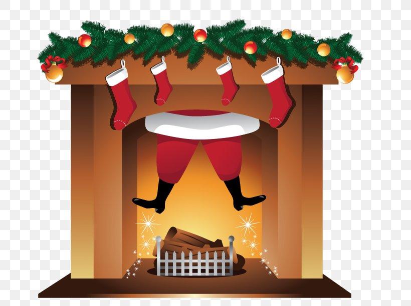 Santa Claus Fireplace Clip Art, PNG, 792x612px, Santa Claus.