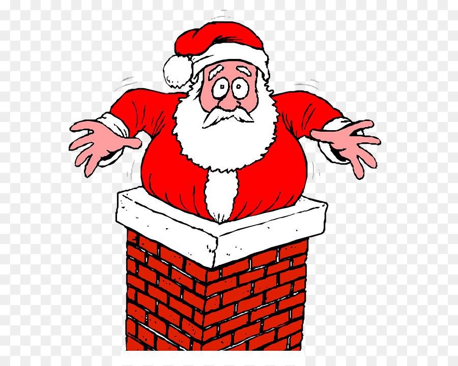 Download Free png Santa Claus Chimney Santa Going Down.