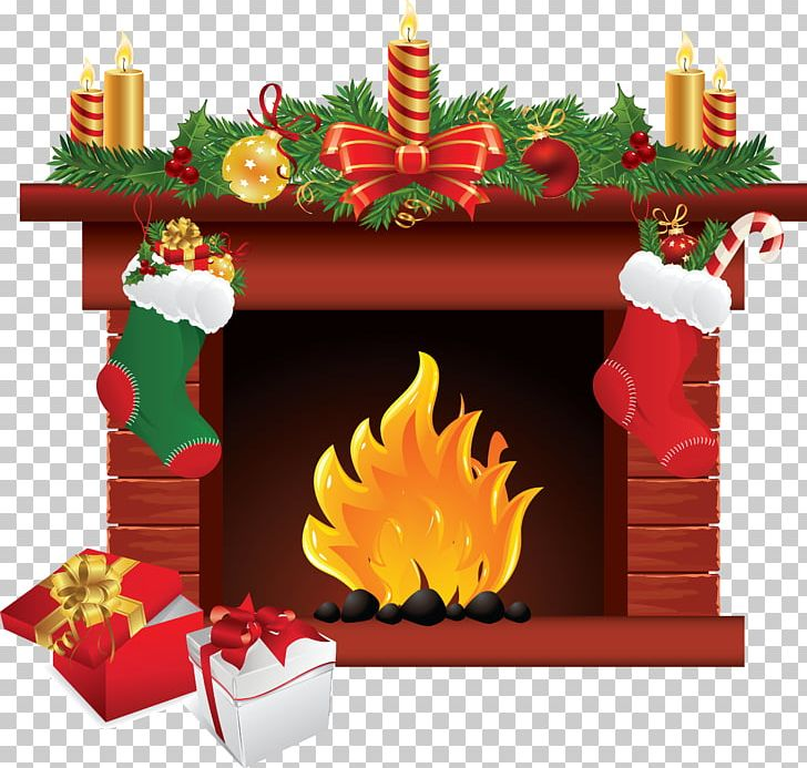 Santa Claus Christmas Fireplace PNG, Clipart, Chimney.