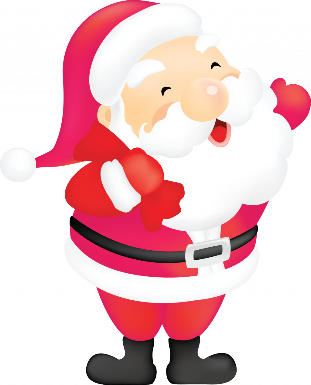 Santa clipart fishing, Santa fishing Transparent FREE for.
