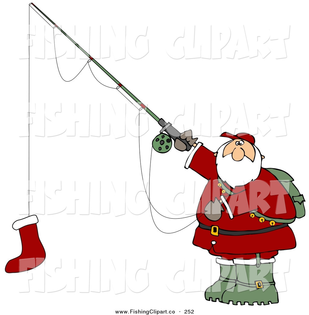 Santa Clipart Fishing.
