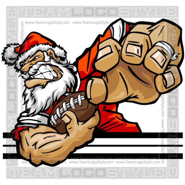 Football Santa Claus Clip Art.