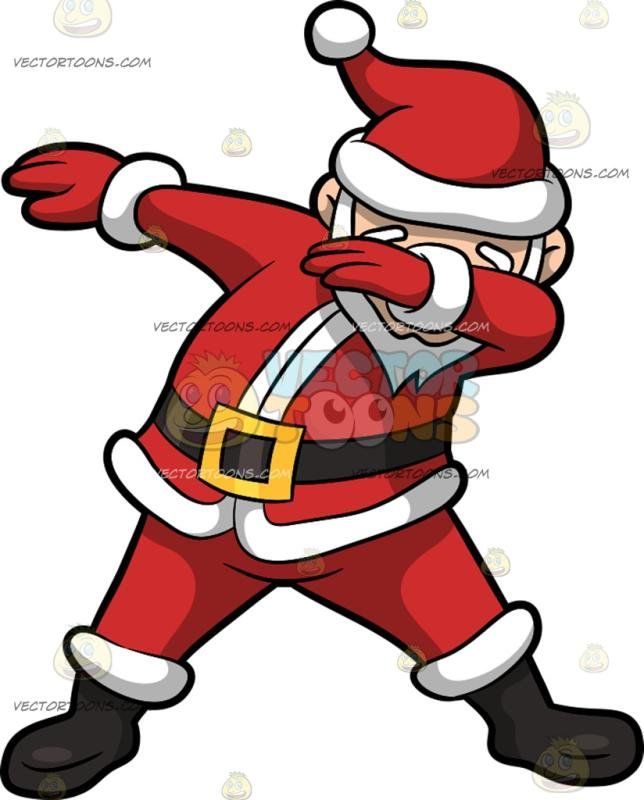 A Dabbing Santa Claus : A man with a white beard wearing a.