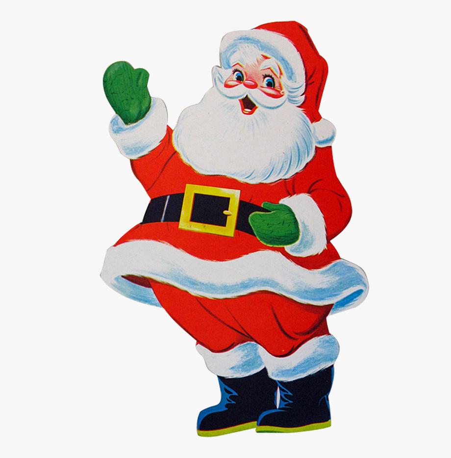 Santa Claus Waving Clipart , Transparent Cartoon, Free.