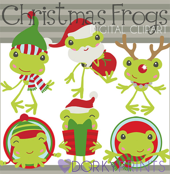 Christmas Clipart Christmas Frogs.