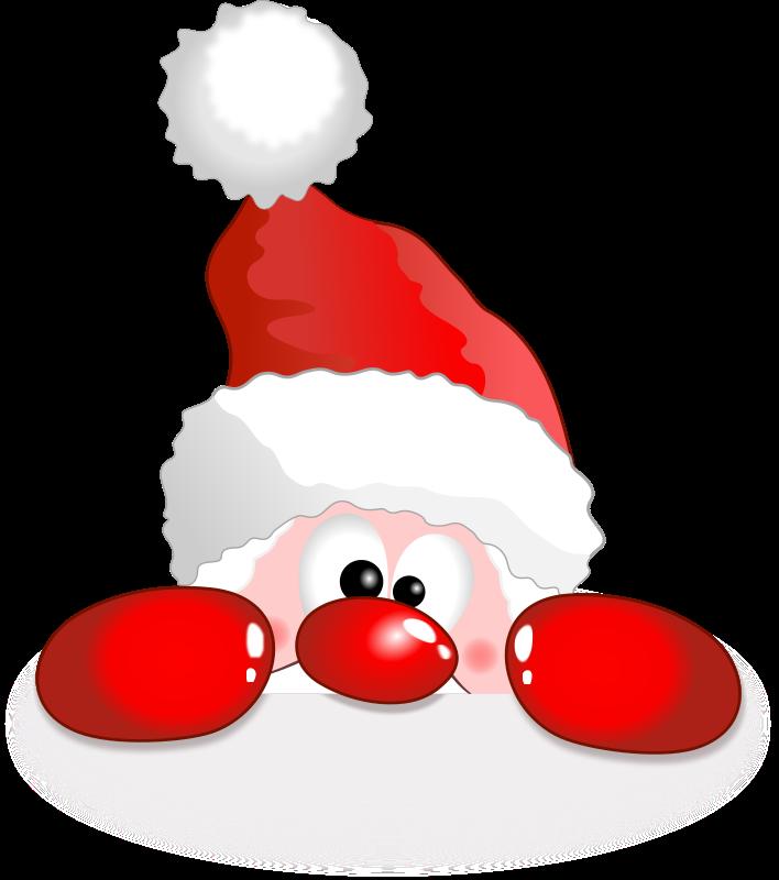 Free Clipart: Funny Santa.