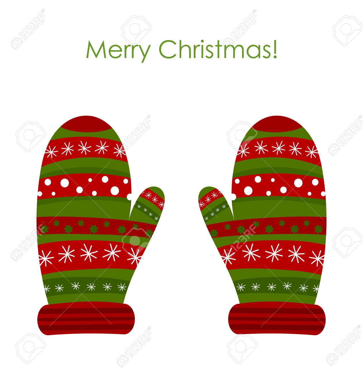 Santa Gloves Clipart Outline Clipground