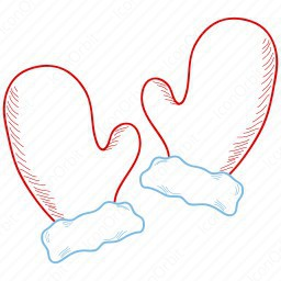 Outline Santaclaus Gloves icon.