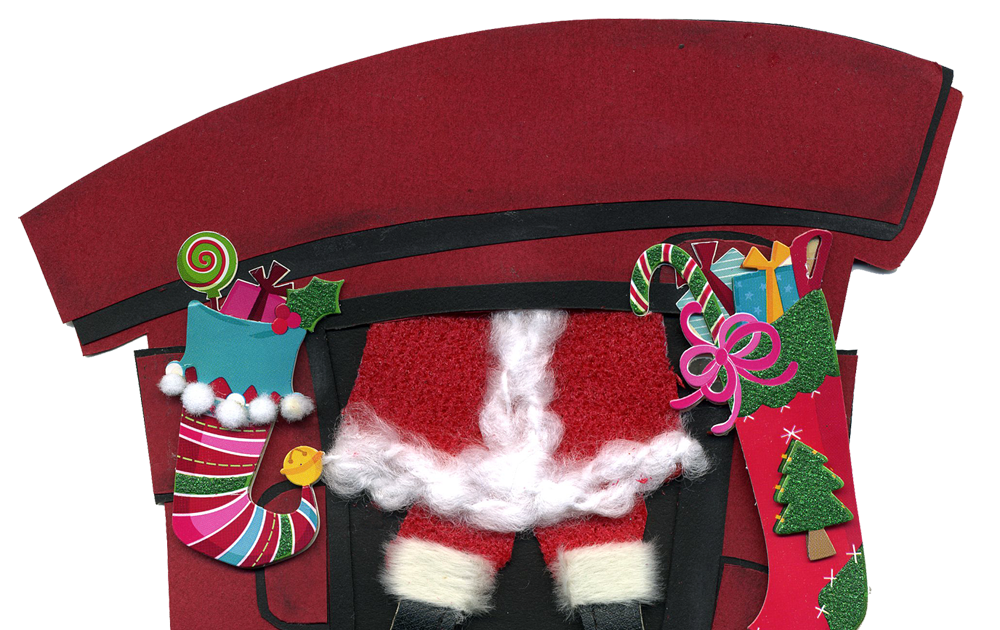 eri doodle designs and creations: Santa coming down the chimney.