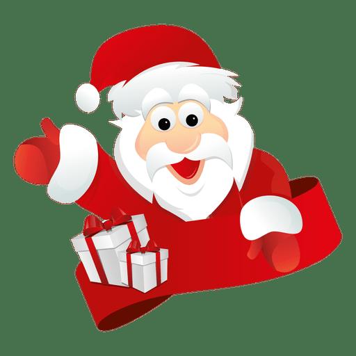 Santa Claus Waiving Hand PNG Transparent Clipart Image.