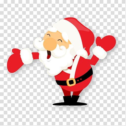 Santa Claus sticker, christmas ornament food fictional.