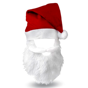 China Santa Hat With Beard Wholesale ?? #142807.
