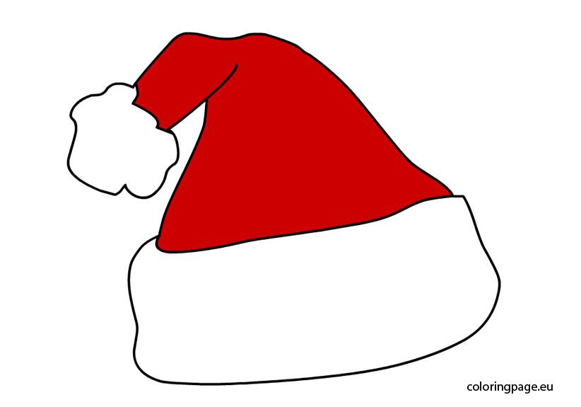 Santa hat clipart color clipground