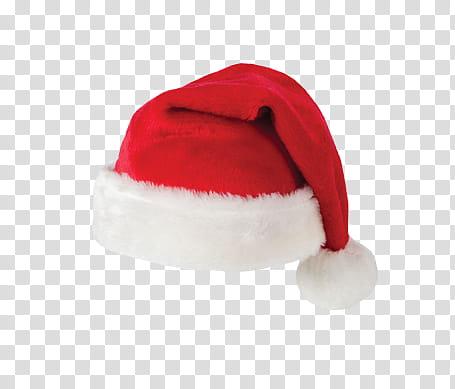 CHRISTMAS, Santa hat transparent background PNG clipart.