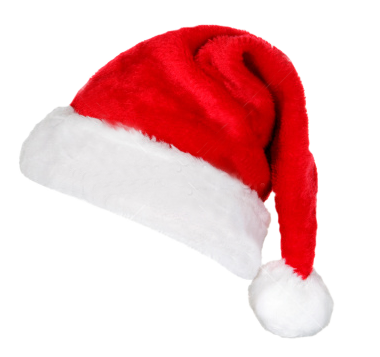 Free Christmas Santa Claus Hat PNG Transparent Images.