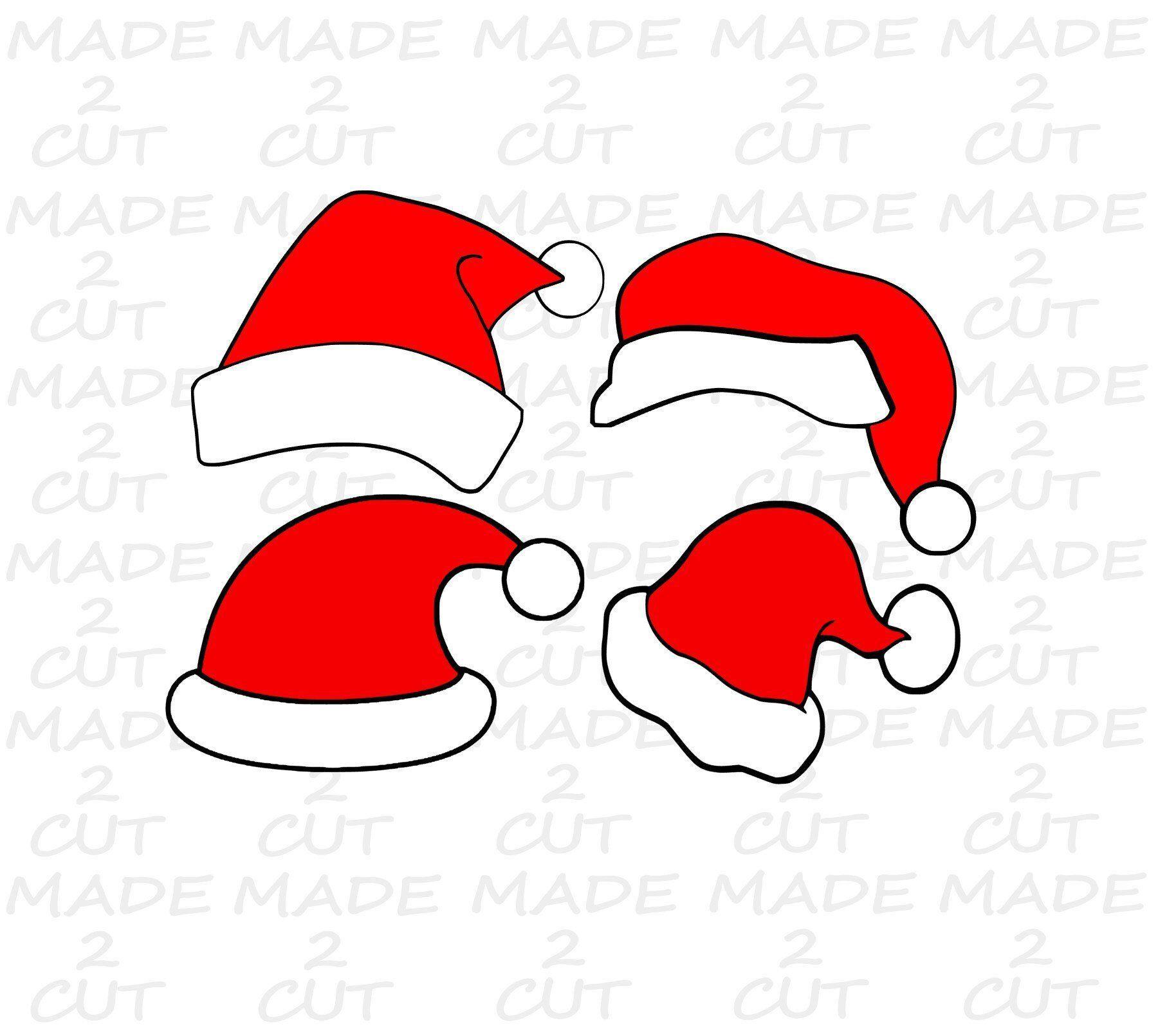 Santa Hat Svg Clip art.