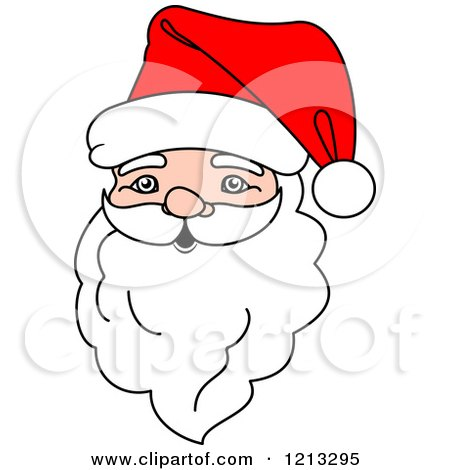 Clipart of a Santa Head.