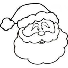 Free Printable Santa Face.