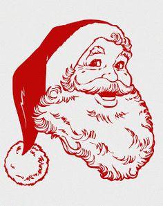 Cute Santa Face.