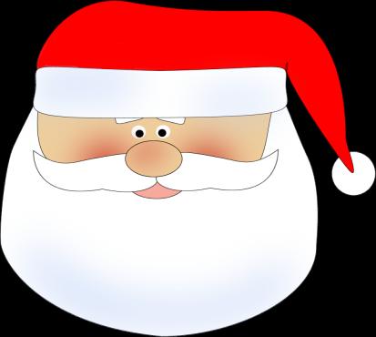 Santa Head Clip Art.