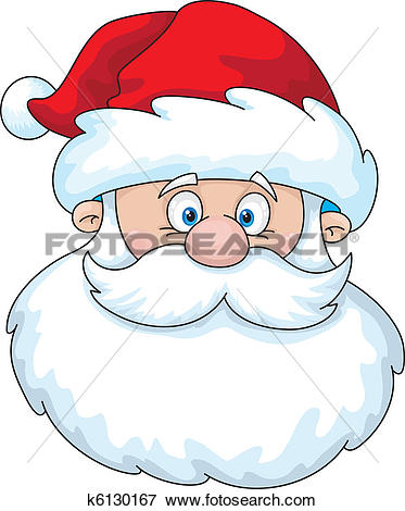 Clip Art of Santa head k6130167.