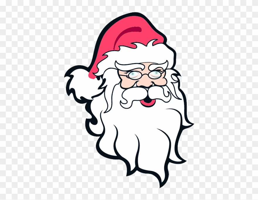 Father Christmas Face Clipart.