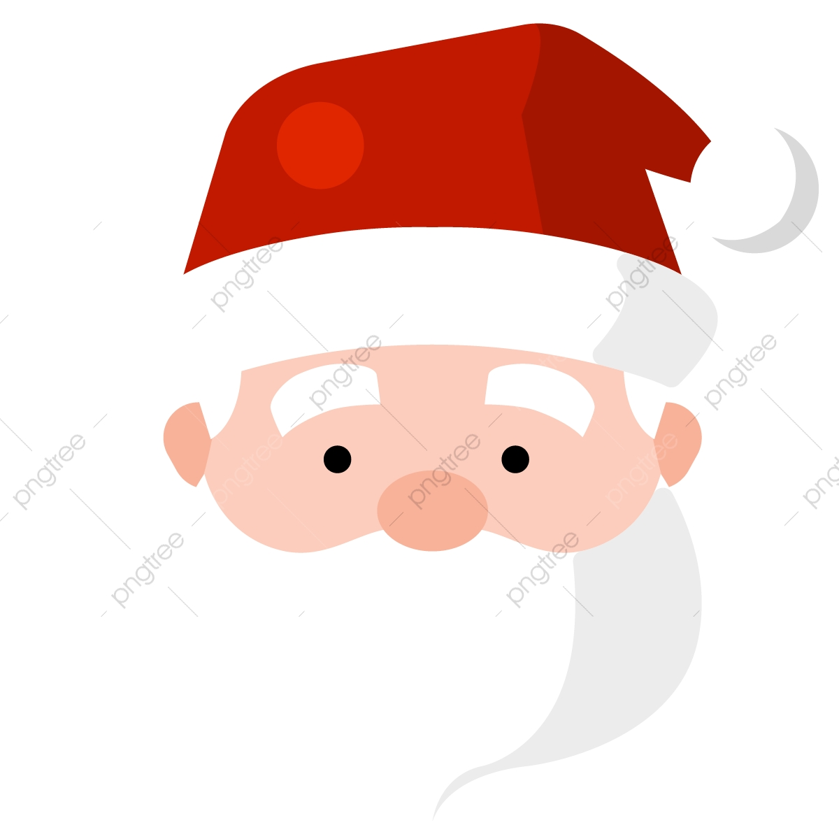 christmas Sabta Head, Png, Santa, Christmas PNG and Vector.