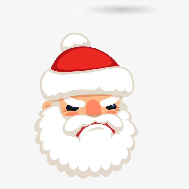 Unhappy Santa Head Vector, Santa Claus H #464633.