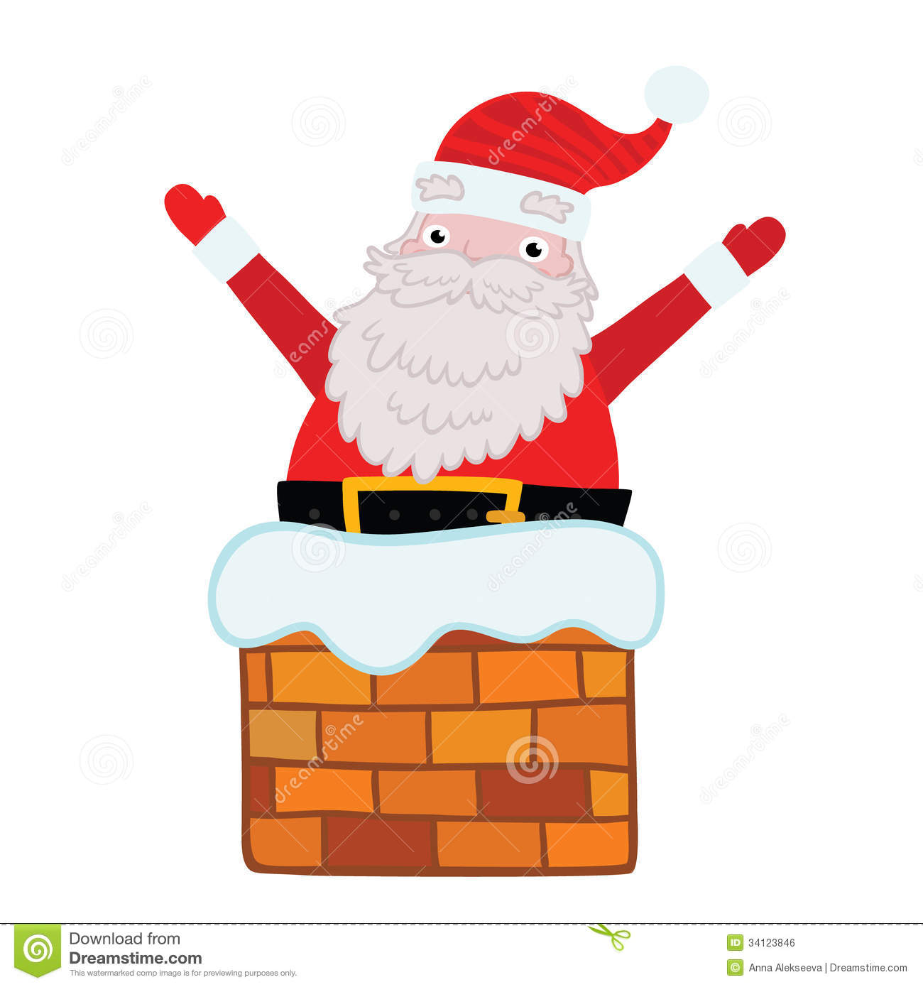 Santa claus chimney clipart 9 » Clipart Station.