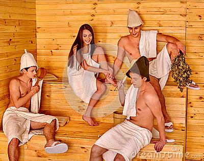 santa in a sauna clipart #10