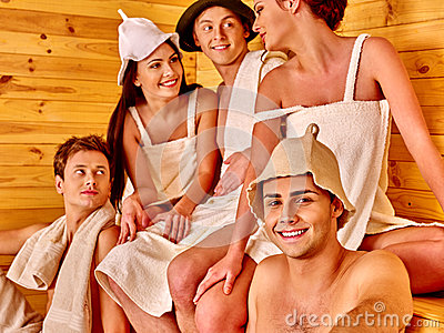 santa in a sauna clipart #6