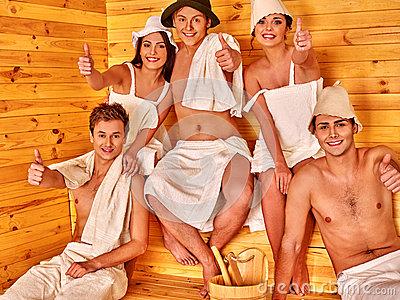 santa in a sauna clipart #5