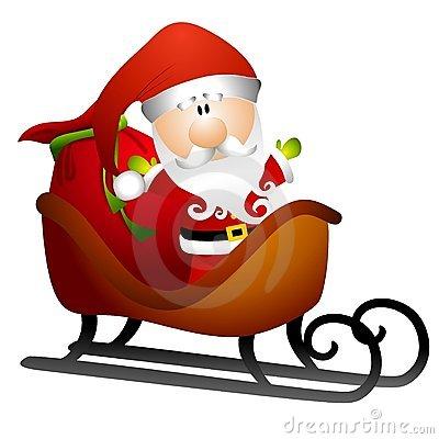 Santa Sleigh Clip Art Stock Illustrations.