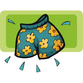 Swim Trunks Clipart.