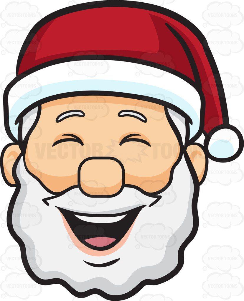 A laughing face of Santa Claus #cartoon #clipart #vector.