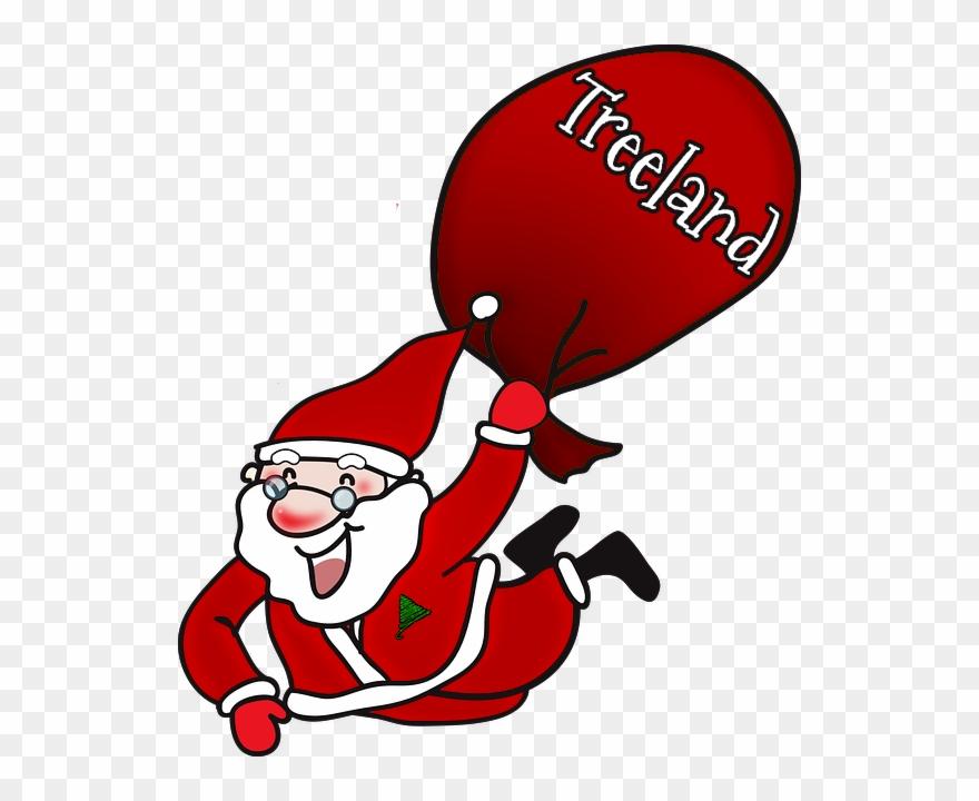 Laughing Santa Claus Large Tote Bag, Natural, Large Clipart.