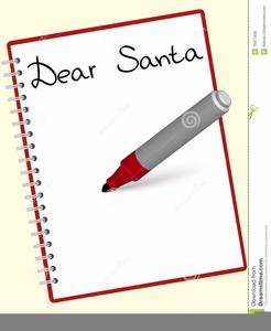 Dear Santa Letter Clipart.