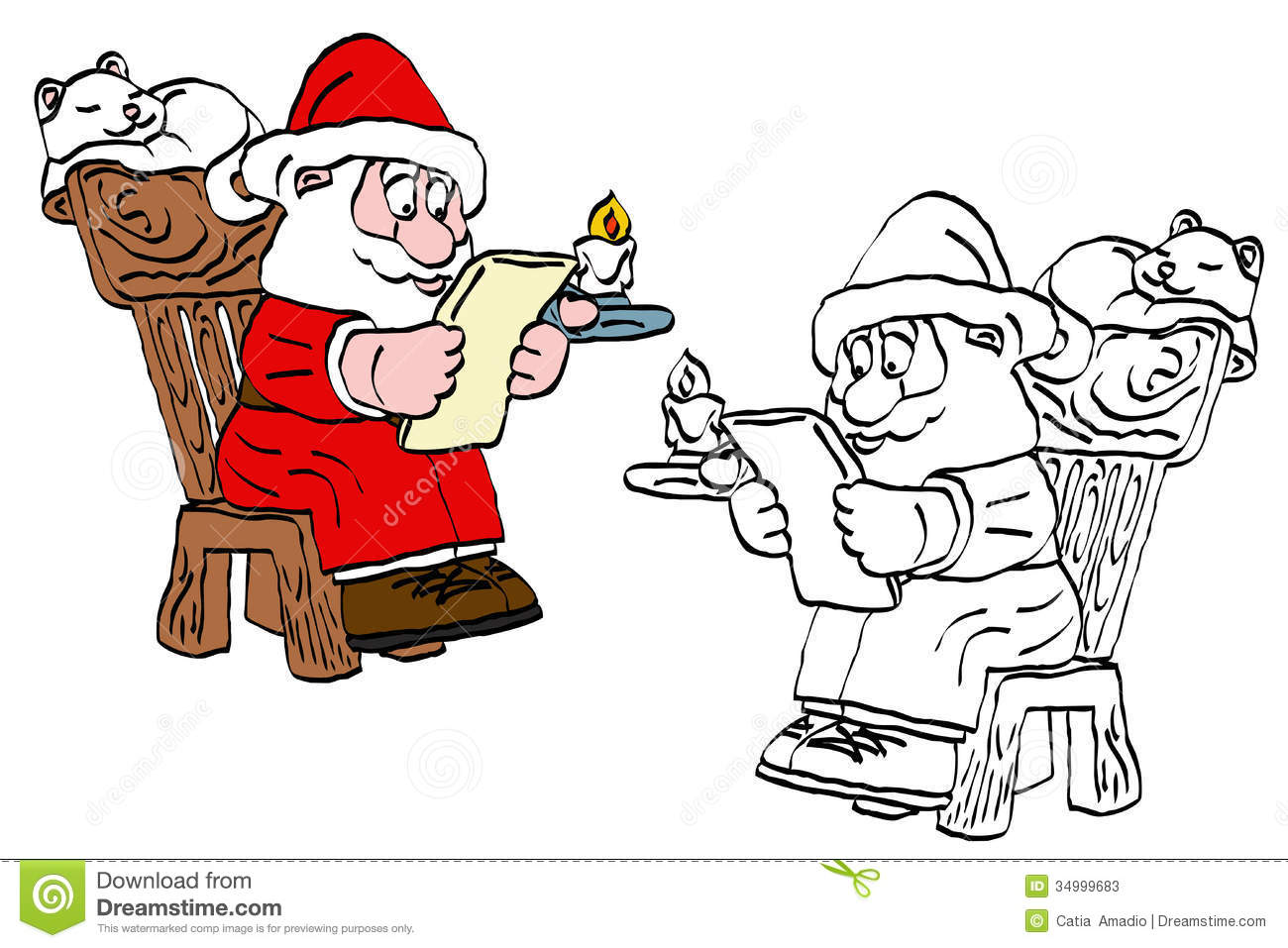 Showing post & media for Cartoon santa claus letter.