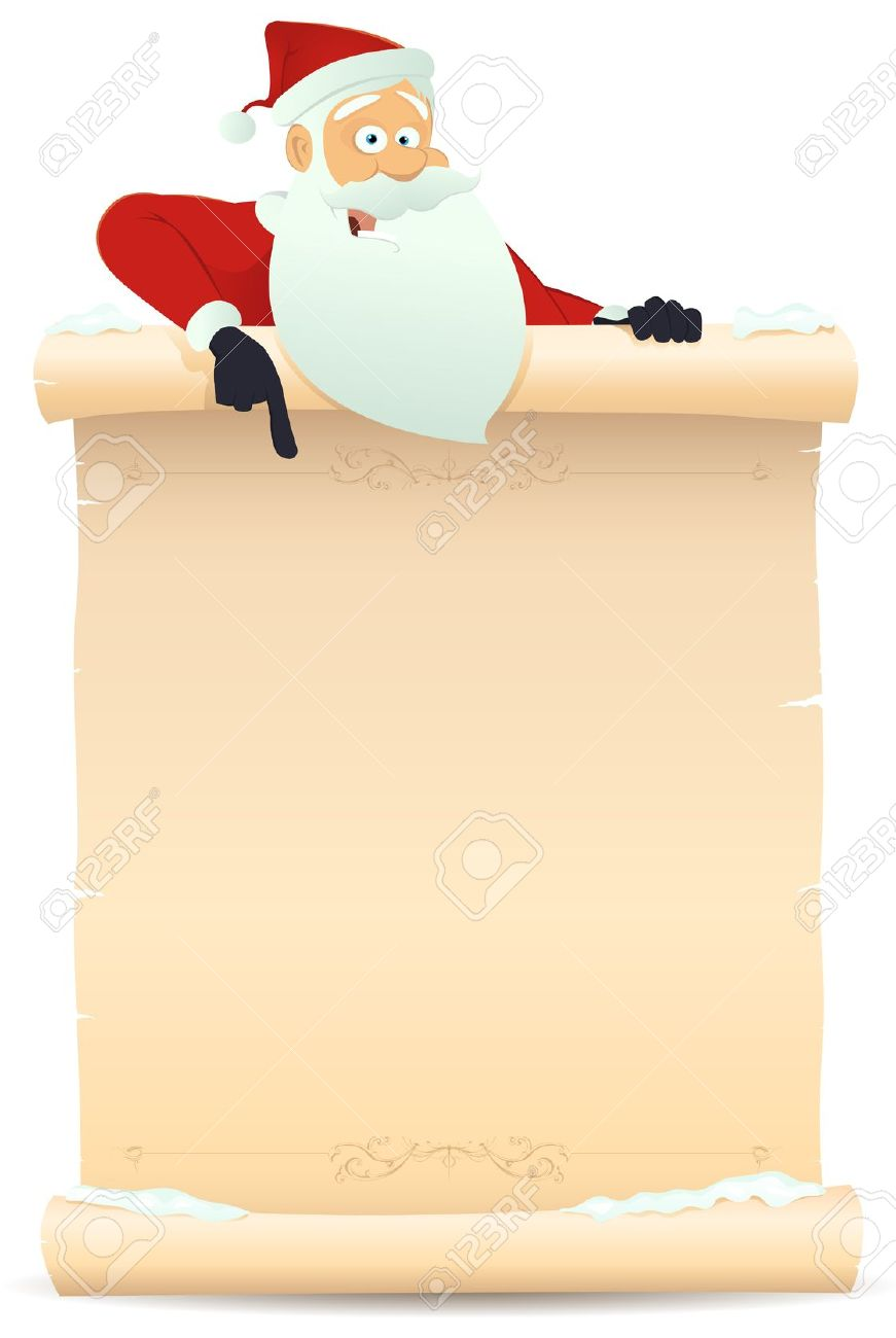 Santa letter clipart.