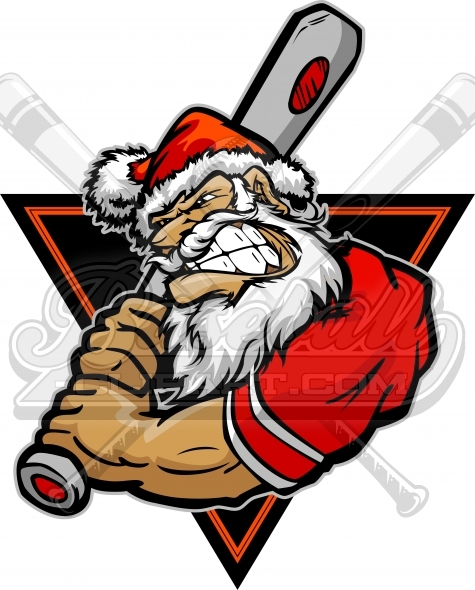 Holiday Baseball Clipart Vector Image.
