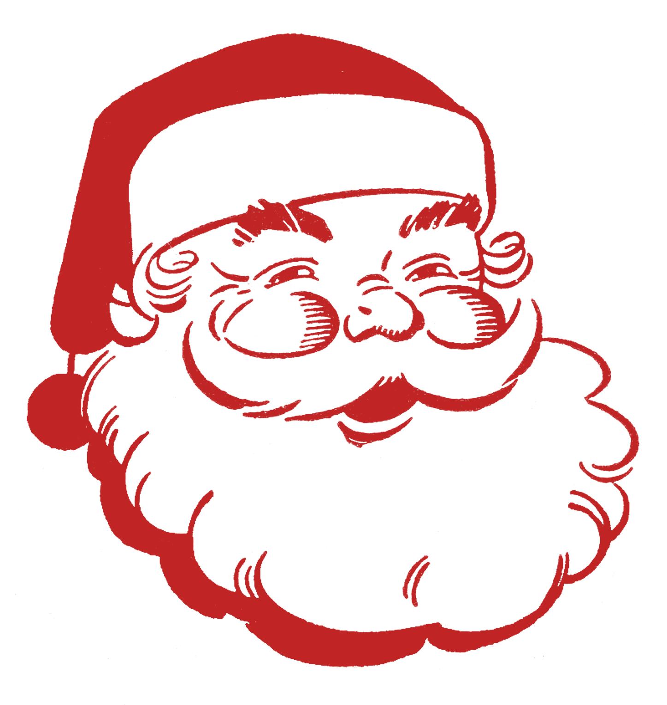 Retro christmas clip art jolly santa the graphics fairy.