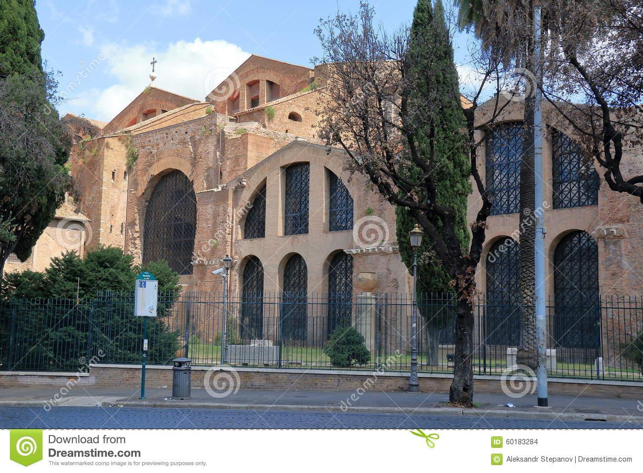 Rome. Basilica Of Santa Maria Degli Angeli E Dei Martiri Editorial.