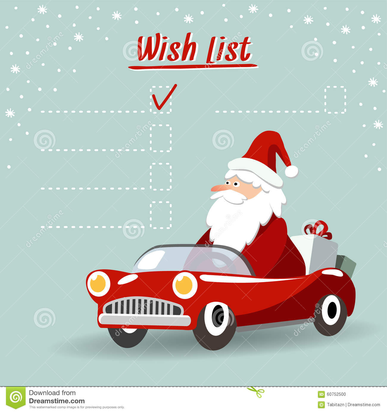 Santa Mechanic Christmas Clipart.
