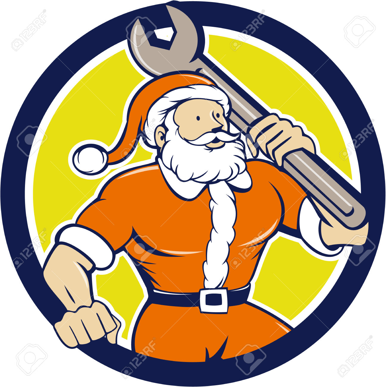 Mechanic Christmas Clipart.