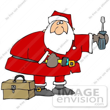 Santa Mechanic Clipart.