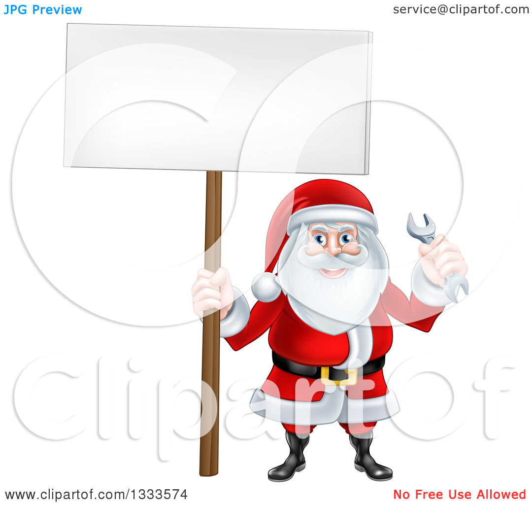 Showing post & media for Cartoon mechanic clip art santa.
