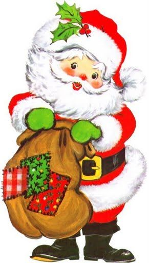 CUTE CHRISTMAS SANTA CLIP ART.