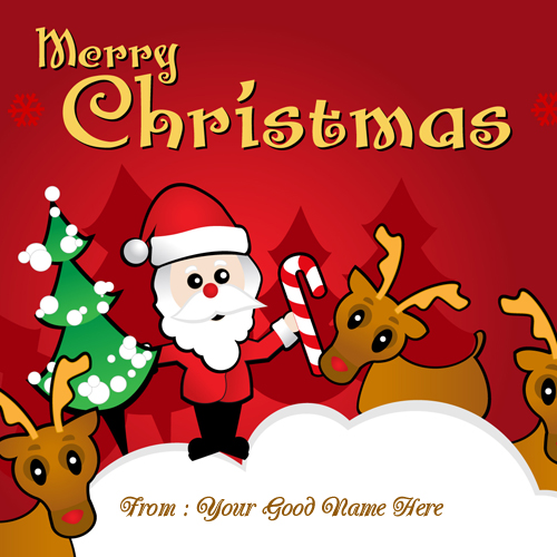 Merry Christmas Santa Blessing clipart Name pics.