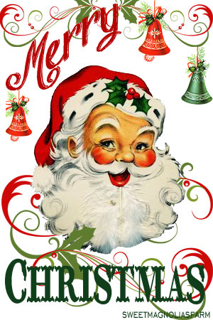Sweet Magnolias Farm: Merry Christmas Santa Clip Art Image ~ Free.
