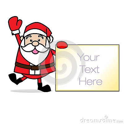 Merry Christmas! Smiling Santa! / Clip Art Stock Image.